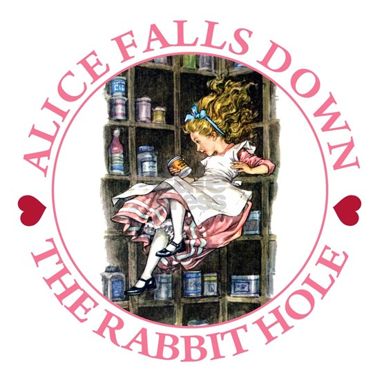 ALICE_DOWN THE RABBIT HOLE_PINK