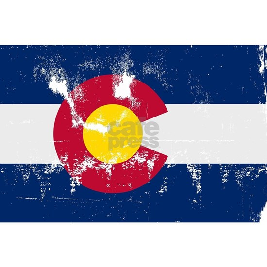 Colorado State Flag Grunge