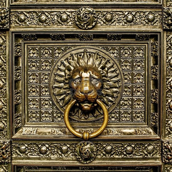 Doorknocker Lion - Brass