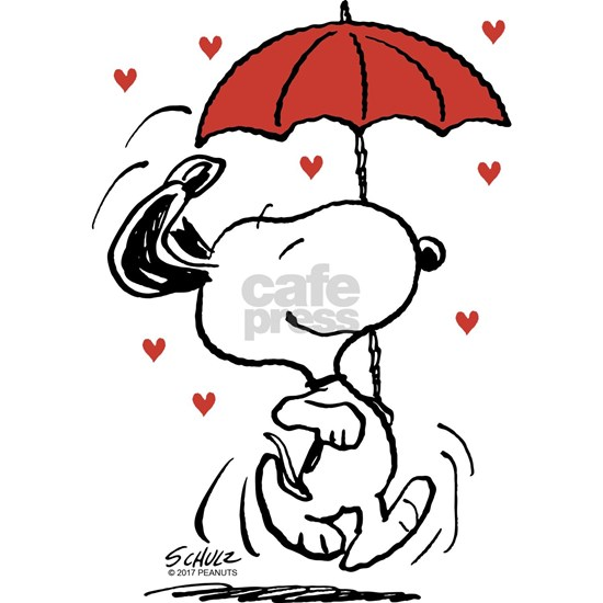 Peanuts: Snoopy Raining Hearts