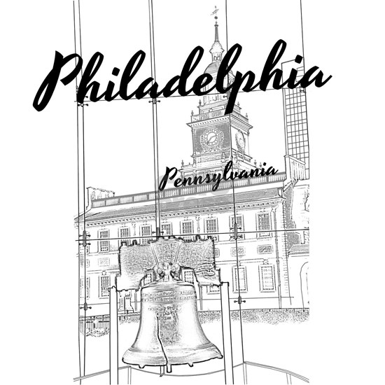 Philadephia_10x10_LibertyBell_IndependenceHall_Bl