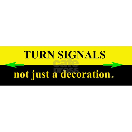 Turn Signals Black and Yellow Bumper Sticker