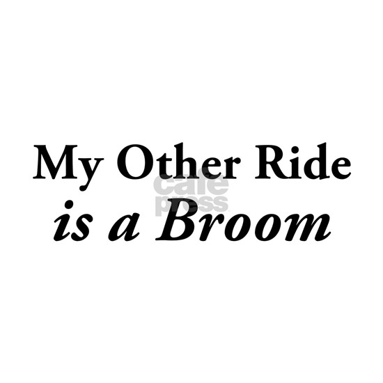 My Other Ride Is A Broom