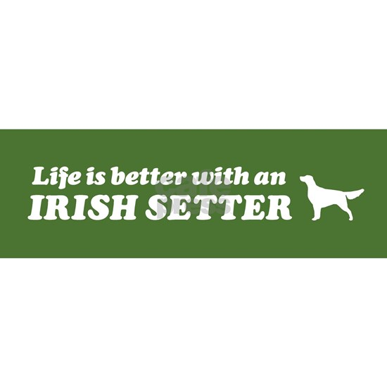 IRISHsettergreenbumpersticker