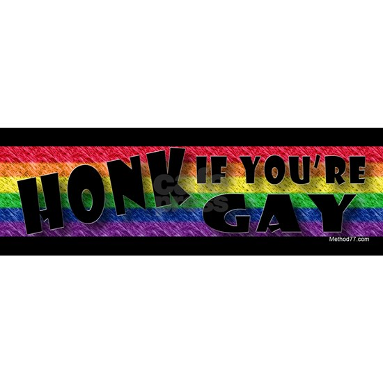 Honk if your Gay Stckr