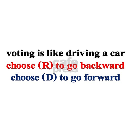 Voting Is Like Driving A Car