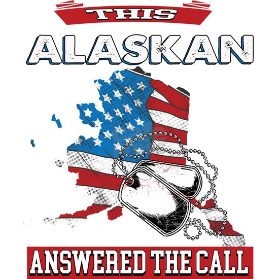 Alaskan Military Veteran Alaska Patriotic Design D