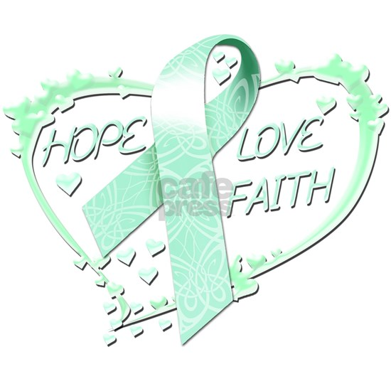 Hope Love Faith Heart (teal)