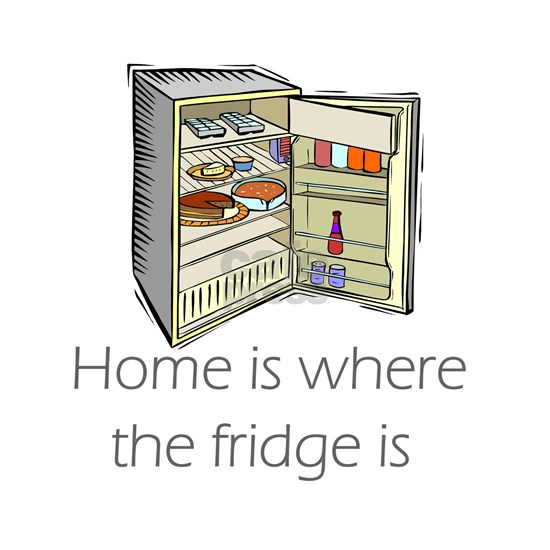 where the fridge is