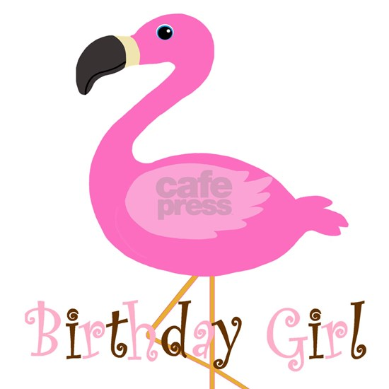 Birthday Girl Flamingo