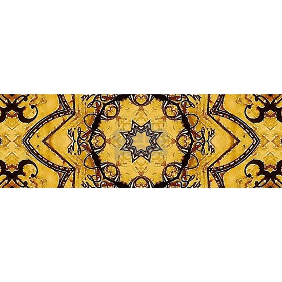 Yellow rustic floral  morocco
