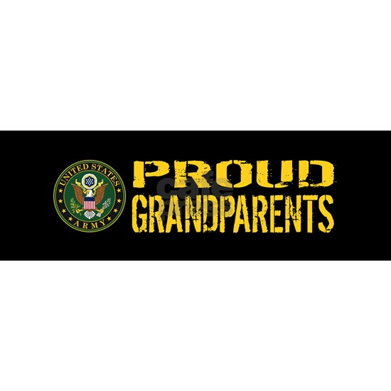 U.S. Army: Proud Grandparents (Black & Gold)
