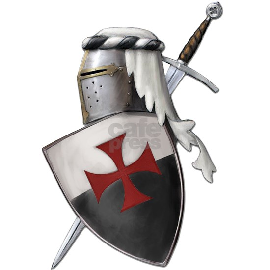 templar shield white top with cross png
