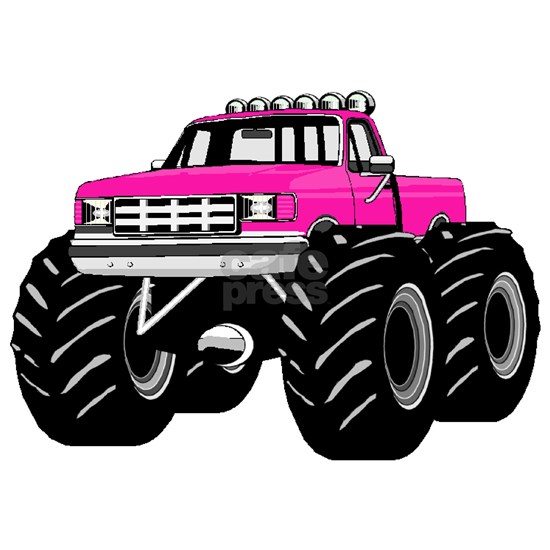 Hot Pink Monster Truck
