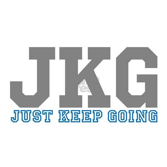 Just Keep Going Gray Blue