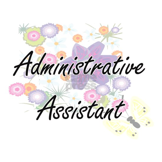 Administrative Assistant Artistic Job Design with