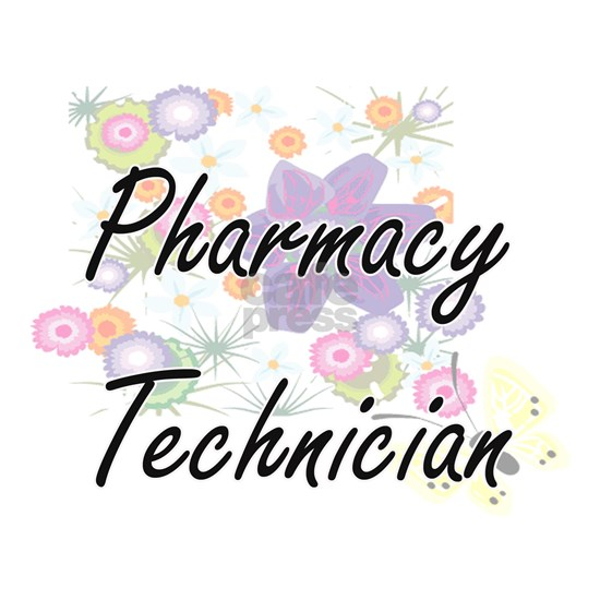 Pharmacy Technician Artistic Job Design with Flowe