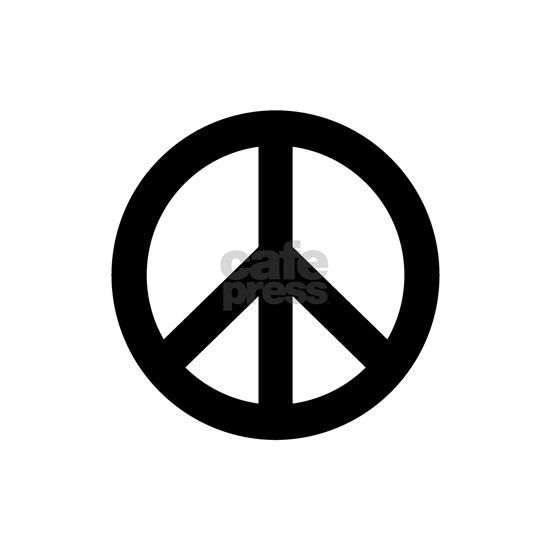 Black Peace Sign