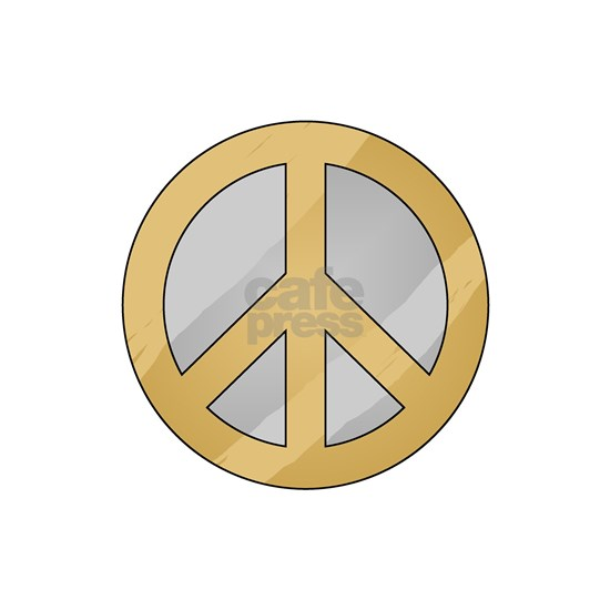 Gold and Silver Peace Sign