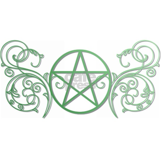 Pretty green pentacle