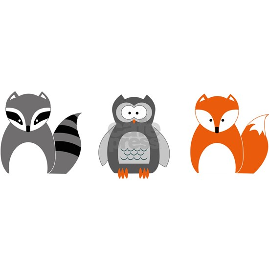 Raccoon, Owl and Fox Trio