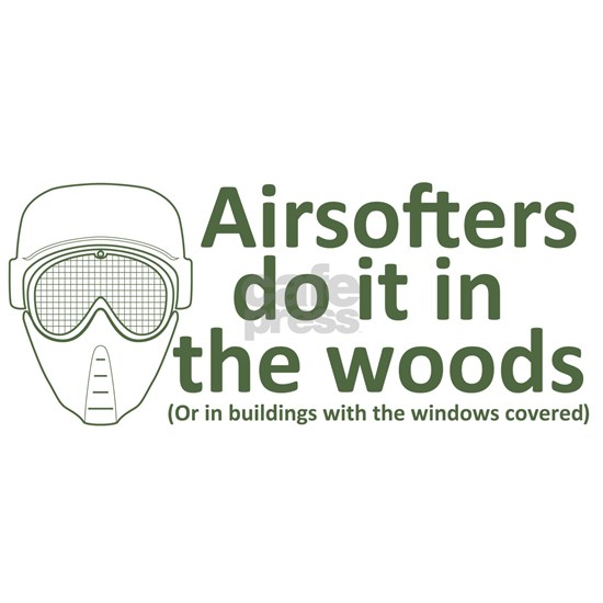 Airsofters do it in the woods - OD