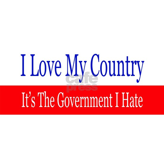 Love My Country Hate The Government