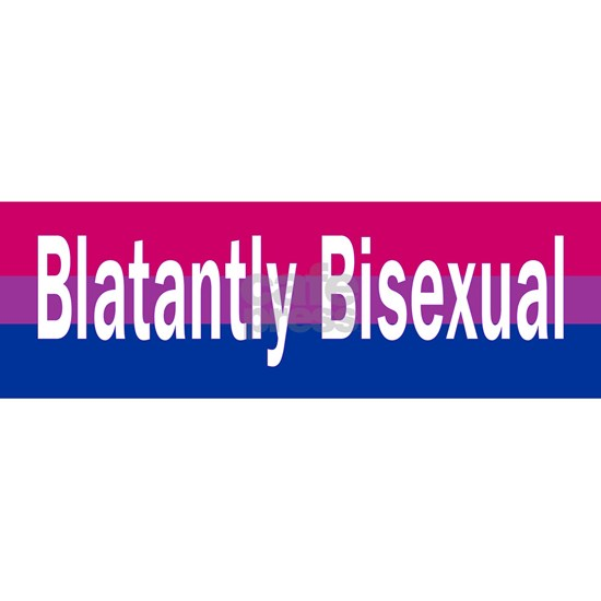 blatantly bisexual sticker