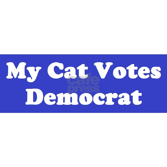Cat Votes Dem Blue