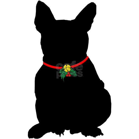 Frenchie French Bulldog Christmas or Holiday Silho