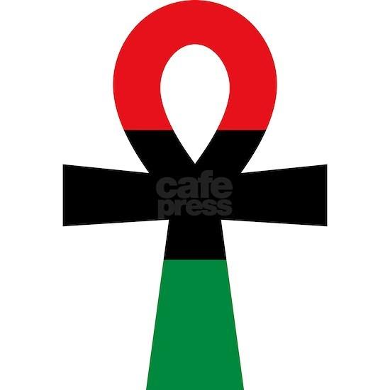 Red, Black & Green Ankh