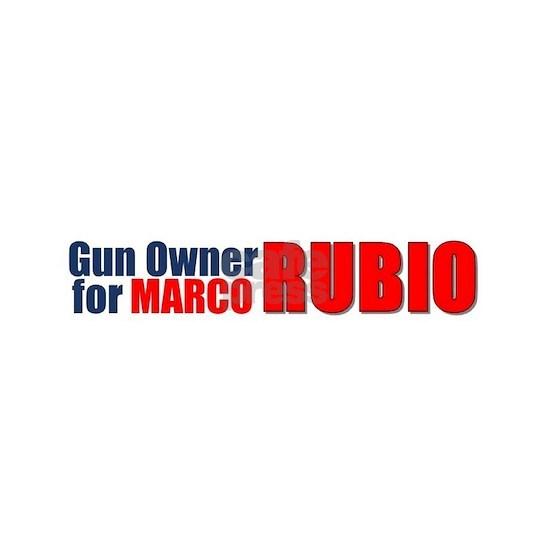 Gun Owner for Marco Rubio bumper sticker