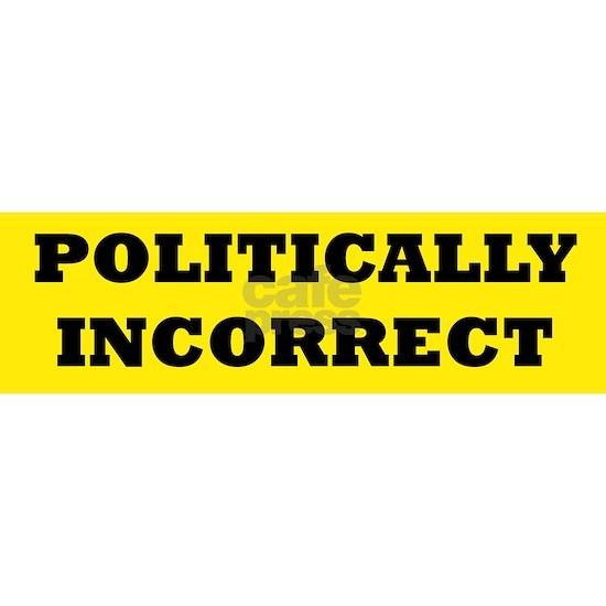 POLITICALLY INCORRECT bumpersticker