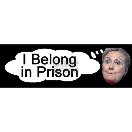 Hillary I Belong in Prison