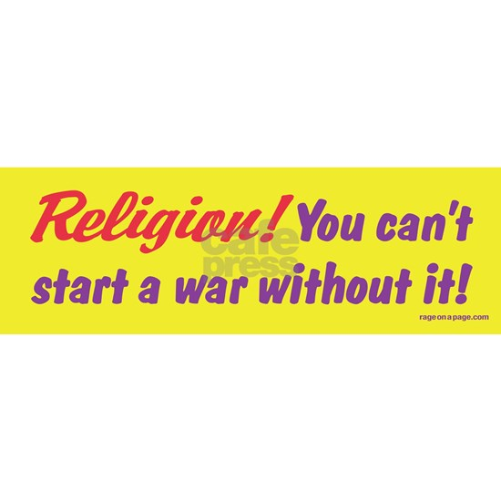 Religion. You Cant Start