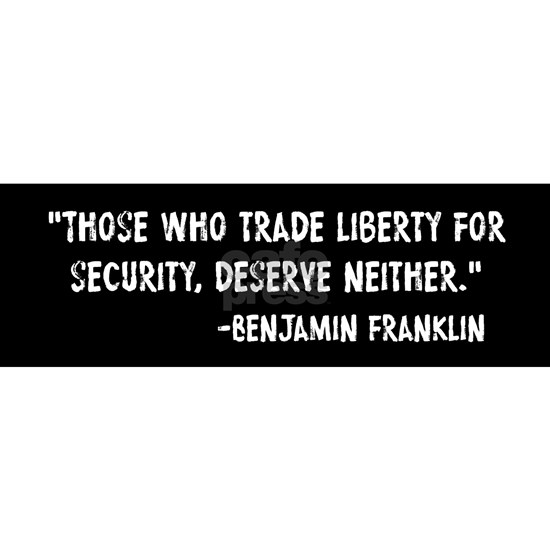 Franklin Quote Liberty For Security