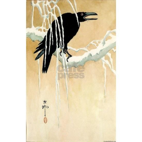 Blackbird In Snow - Koson Ikeda - 1867 - woodcut