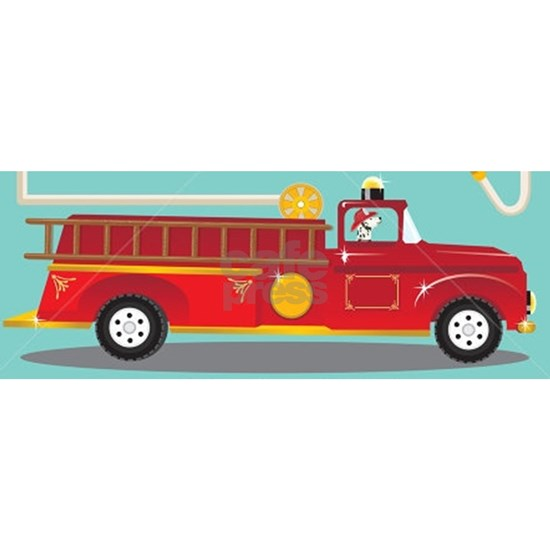 Kids Style Fire Truck with Dalmatian