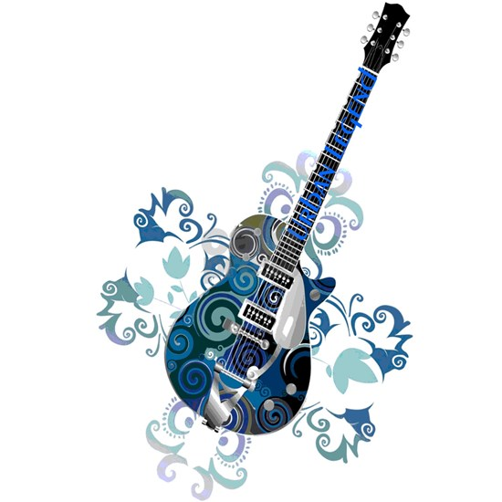Urban Legend Grunge Guitar Rotated with  Neck Logo