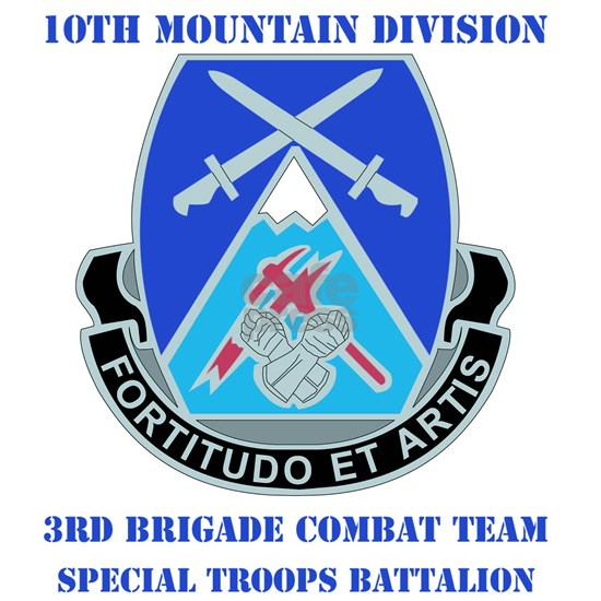 DUI-10 MTN DIV 3BCT SPECIAL TROOPS  WITH TEXT