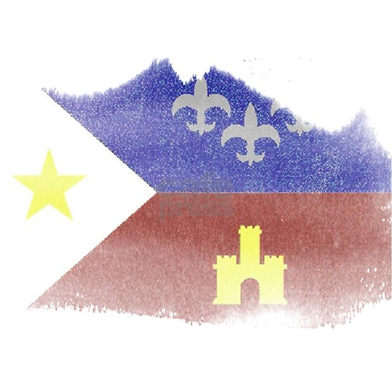 2-cajun flag distressed