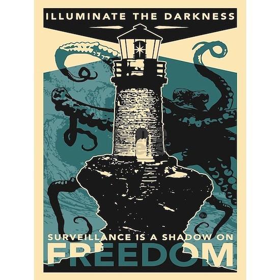 Vintage poster - Illuminate the darkness
