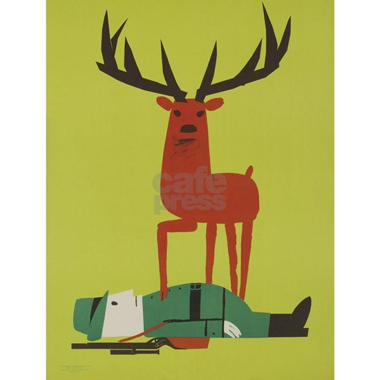 Vintage Anti Hunting Travel Poster