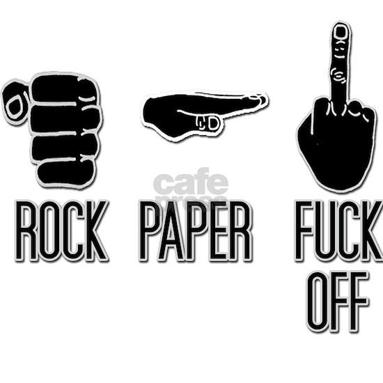 Rock, Paper, Fuck Off light