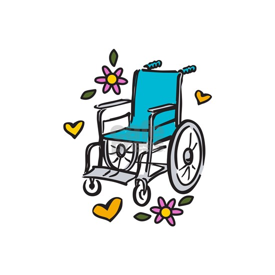 Floral Wheelchair