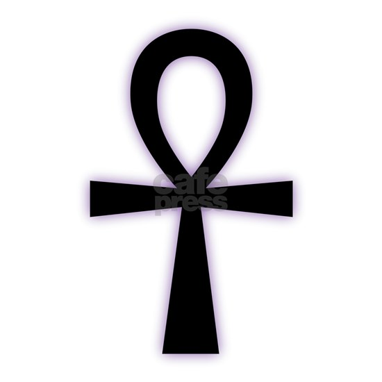 Ankh (Black, Purple Glow)