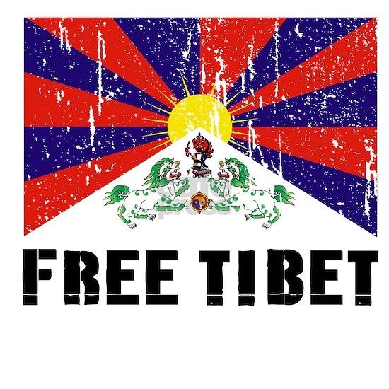 Free tibet black distress