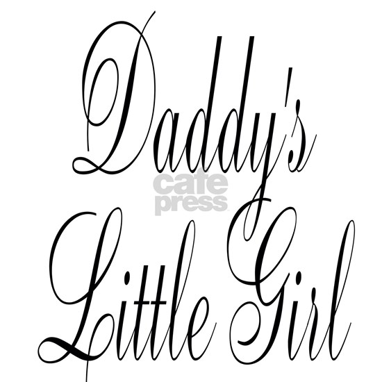 Daddys Little Girl Large Black Script