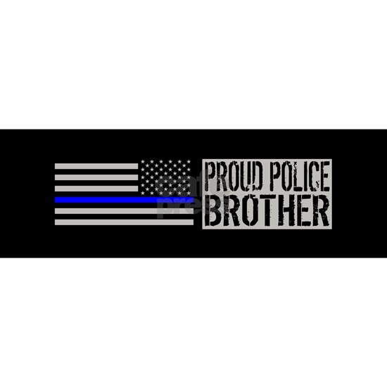 Police: Proud Brother (Black Flag & Blue Line)