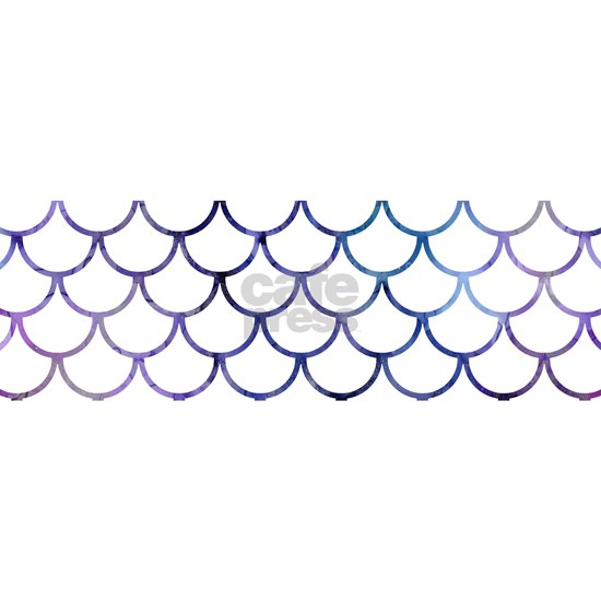 Abstract Purple and White Fish Scales